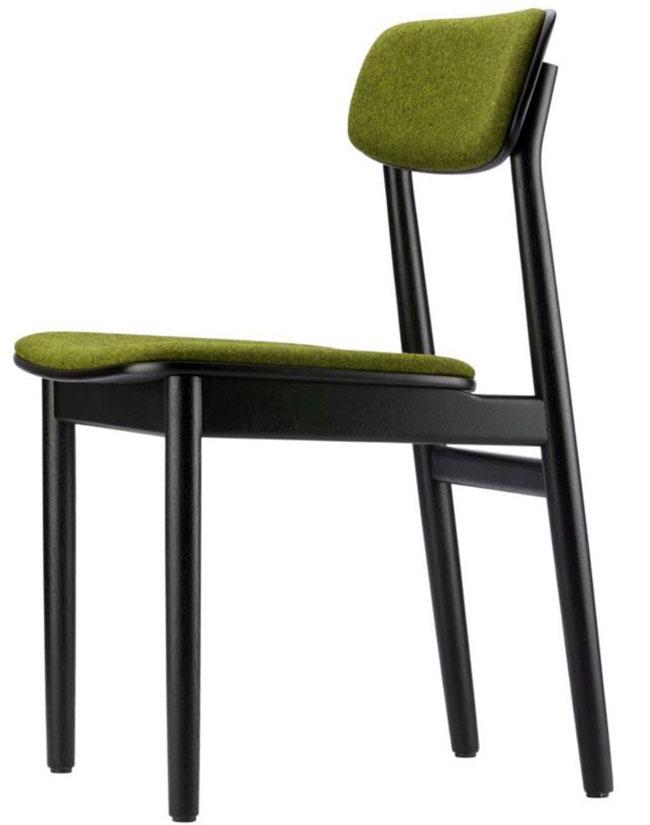 sedia nera e verde thonet