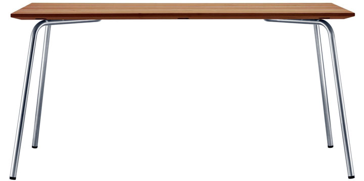 Tavolo in acciaio e legno