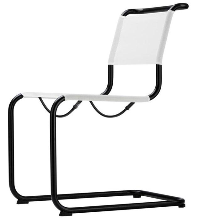 sedia in tessuto bianco