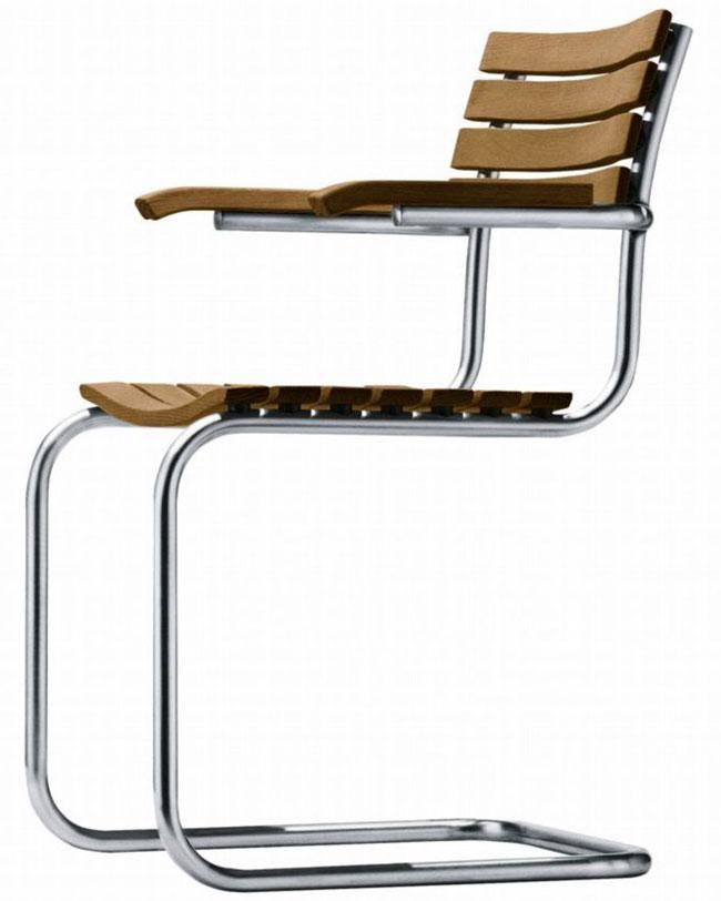 sedia con braccioni thonet